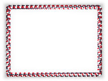 Frame and border of ribbon with the state North Carolina flag, USA. 3d illustration Royalty Free Stock Photos