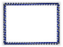 Frame and border of ribbon with the state Oregon flag, USA. 3d illustration Royalty Free Stock Photography
