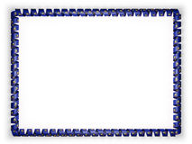 Frame and border of ribbon with the state Pennsylvania flag, USA. 3d illustration Royalty Free Stock Photography