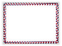 Frame and border of ribbon with the state Texas flag, USA. 3d illustration Royalty Free Stock Image