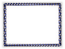 Frame and border of ribbon with the state Virginia flag, USA, edging from the golden rope. 3d illustration Royalty Free Stock Photo