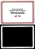 Frame and border of ribbon with the Venezuela flag for diplomas, congratulations, certificates. Alpha channel. 3d illustration Royalty Free Stock Photography