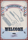 Frame border scissors clippers shears brush swab razor hairclipp Stock Photos