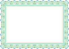 Frame - border template guiloche & islamic style royalty free stock photography