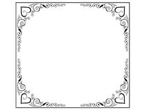 Frame and borders page decoration Stock Photos