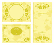 Frame and borders on seamless retro background Stock Photo