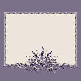 Frame bouquet vintage floral elements pattern Royalty Free Stock Photo