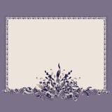 Frame bouquet vintage floral elements pattern royalty free illustration