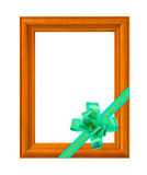 Frame and bow Royalty Free Stock Images