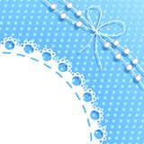 Frame with bow and beads Stock Photos