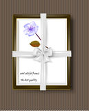 Frame with the bow, vintage style Stock Photo