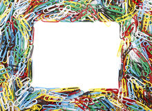 Frame box - paper clips Stock Images