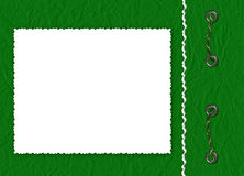 Frame with braid the green background. White  frame with braid the green background Royalty Free Stock Image