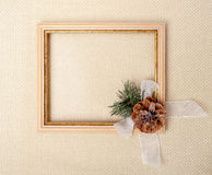 Frame with branch of Christmas tree Royalty Free Stock Photo