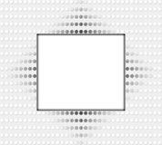 Frame branco com pontos Imagem de Stock