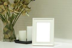 Frame branco da foto Foto de Stock