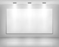 Frame branco na galeria de arte Imagem de Stock