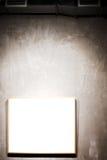 Frame branco na parede cinzenta Imagem de Stock