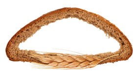 Frame of bread Royalty Free Stock Photo