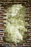 Frame with brick. Many red brick posed to form a frame Stock Images