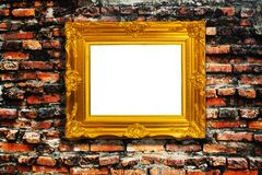 Frame on brick Royalty Free Stock Image