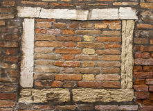 Frame with brick Stock Image