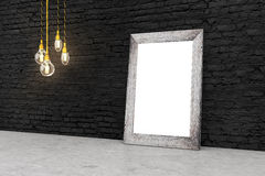 Frame on brick side Stock Images