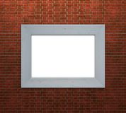Frame on brick wall Royalty Free Stock Images