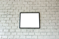 Frame on brick wall. Art Frame on brick wall Royalty Free Stock Photography