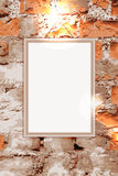 Frame on brick wall Stock Photography