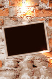 Frame on brick wall Royalty Free Stock Image