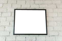Frame on brick wall. Frame or photo on brick wall Stock Photo