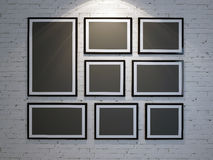 Frame on brick wall Royalty Free Stock Photos