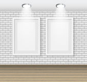 Frame on Brick Wall for Your Text and Images, Vector Illustratio Royalty Free Stock Photos
