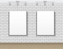 Frame on Brick Wall for Your Text and Images, Vector Illustratio Stock Image