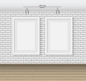 Frame on Brick Wall for Your Text and Images, Vector Illustratio Royalty Free Stock Photo