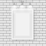 Frame on Brick Wall for Your Text and Images, Vector Illustratio Stock Photo