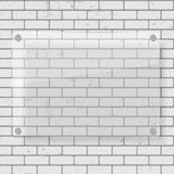 Frame on Brick Wall for Your Text and Images, Vector Illustration. Royalty Free Stock Images