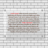 Frame on Brick Wall for Your Text and Images, Vector Illustration. Stock Image