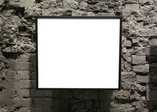 Frame on the bricks wall Royalty Free Stock Images