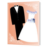 Frame the Bride and Groom Royalty Free Stock Photography