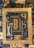 Frame brievenachtergrond Stock Afbeelding