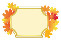 Frame with bright autumn leaves - vector Royalty Free Stock Images