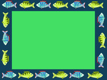 A frame of bright fish Royalty Free Stock Images