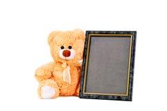 Frame brown bear Royalty Free Stock Image