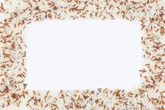 Frame of brown rice Stock Photos