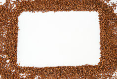 Frame made of buckwheat Stock Image
