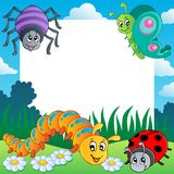 Frame with bugs theme 1. Vector illustration Royalty Free Stock Photos