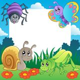 Frame with bugs theme 2 stock illustration
