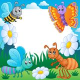 Frame with bugs theme 3. Vector illustration Stock Image